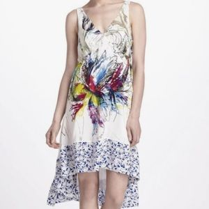 Anthropologie Maeve Prismatic Winds High Low Dress
